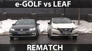 Rematch between e-Golf and Leaf