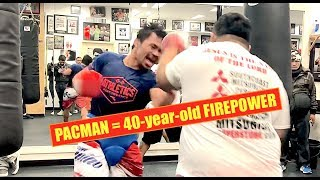 40-year-old MANNY PACQUIAO ridiculous Mitts and Plyo Workout