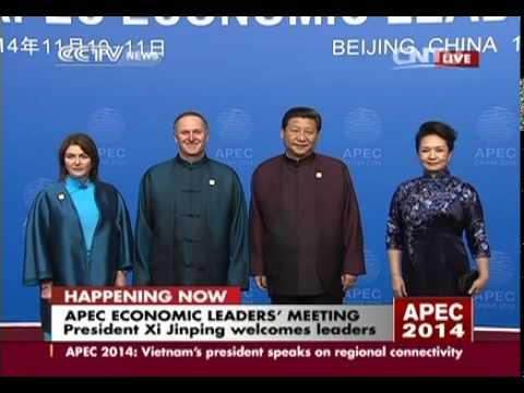 Chinese president Xi Jinping welcomes APEC leaders