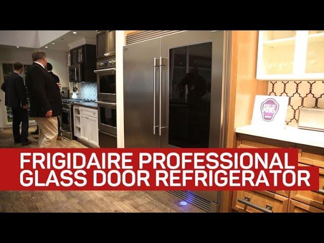 Frigidaire fridge provides a peek inside as you step close