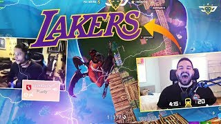 I'M JOINING THE LAKERS?! JOSH HART JOINS THE STREAM! (Fortnite: Battle Royale)