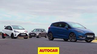 Hot hatch track battle: 2019 Ford Fiesta ST v Mini Cooper S v Toyota Yaris GRMN | Autocar