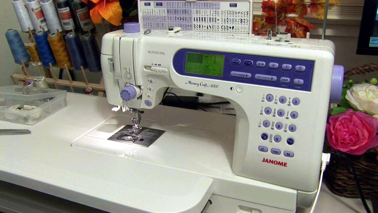 Janome Memory Craft 6500 Professional Youtube