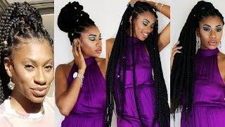 "Jumbo Box Braids Waist length ""Rubber Band Method"" Ft. Freetress Africana 3X 84"" Braid hair $22"
