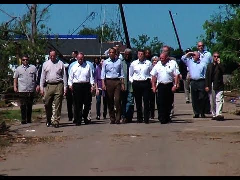 President Obama Tours Tornado-Damaged Areas