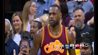 LeBron James vs Oklahoma First Half 13 Points 18.12.15