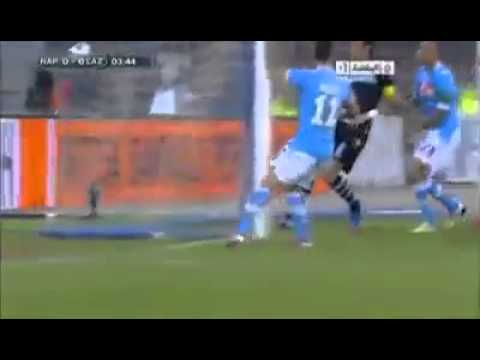 Napoli - Lazio 3-0 - Miroslav Klose Scores With His Hand & Tells Referee To Disallow It - [HQ]