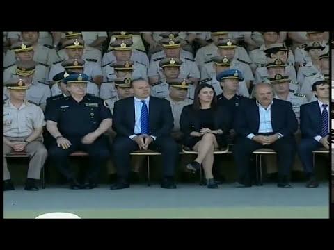 28 de NOV. Egreso Conjunto de las Fuerzas de Seguridad. Sergio Berni. Cecilia Rodríguez.