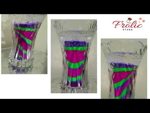 HOW TO MAKE GEL CANDLE AT HOME/DIY GEL CANDLE/CHRISTMAS DECORATION/FLOWER VASE.