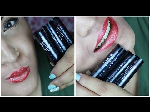 *NEW* Lakme Absolute Illuminating Lip Shimmer Swatches, Review & Transfer Test