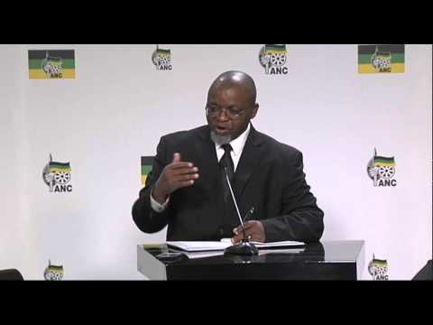 ANC NEC Lekgotla Press Briefing, 08 June 2014