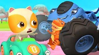 Monster Truck Grabs Baby Kitten's Toy   Police Truck   Nursery Rhymes   Kids Songs   BabyBus