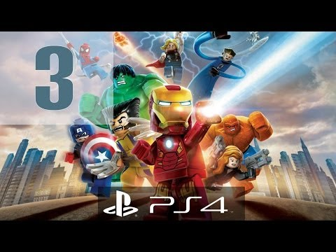 LEGO Marvel Super Heroes Gameplay Walkthrough Part 3 - Hawkeye & Black Widow  - PS4