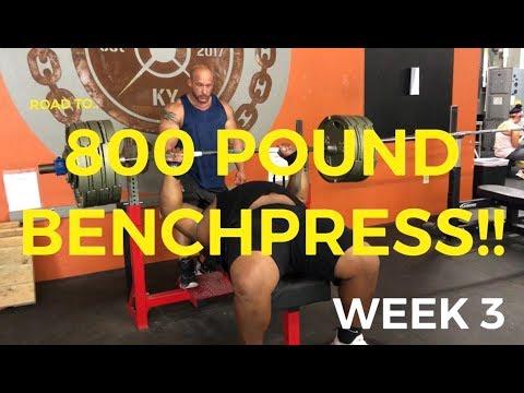 Road to 800 Benchpress | Julius Maddox | Week 3
