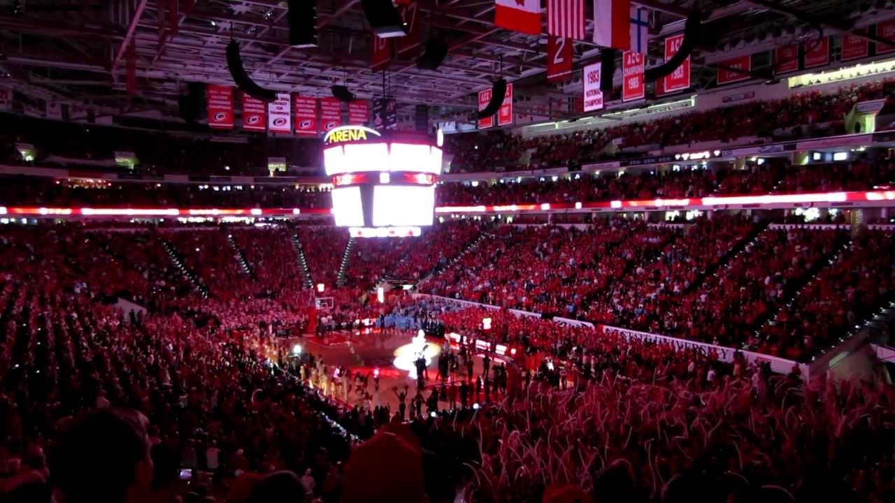 NC State players introduced at the PNC Arena - YouTube