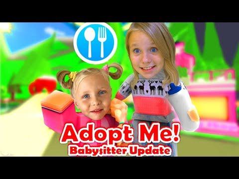 Николь как НЯНЯ для Алисы /Adopt me Babysitter Roblox / РОБЛОКС