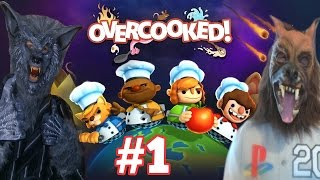 Overcooked  With My Sister (PS4) Part 1 - Thats One Big Meatball