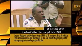 Senator Moise Jean Charles hurt the feeling of Director of PNH, Godson Orelus