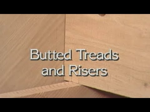 How to Install Butted Treads and Risers build stairs #1