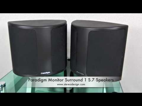 Stereo Design Paradigm Monitor Surround 1 S.7 Speakers in HD