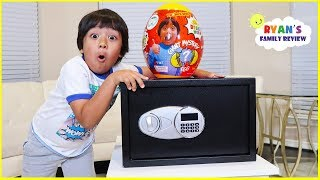 Ryan Hides All Of His Surprise Toys in a Secret Safe for Future Ryan!!!