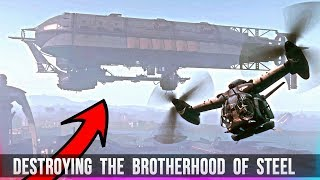 Fallout 4 - Destroying the Brotherhood of Steel & Freeing the Synths!