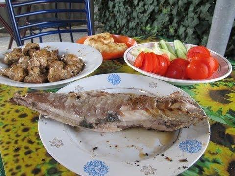 57  Шашлык из грибов и рыбы