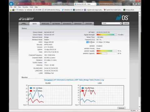Ubiquiti M5 AirGrids Wireless Netowrk Bridge  at 1 mile link with speed test results