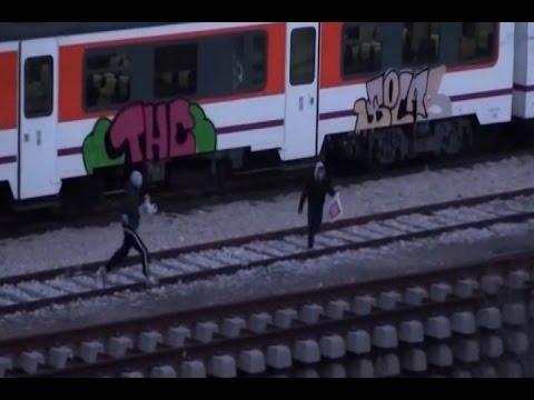 Detenidos por pintar grafitis en 168 vagones