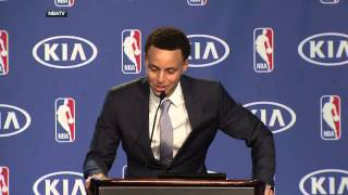 Steph Curry breaks down as he thanks his dad Dell Curry during MVP speech