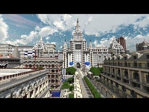 Minecraft Giant Imperial City Amazing Map Youtube