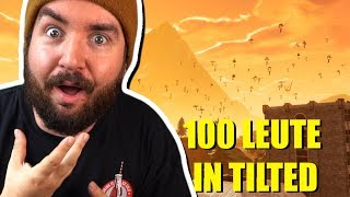 100 LEUTE droppen in TILTED! | FORTNITE CUSTOM MATCH