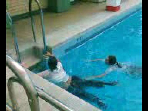 Rachel and Annie Jumping In Swimming Pool!