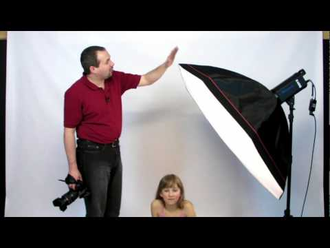 Studio lighting Portrait photography Large Softbox tutorial