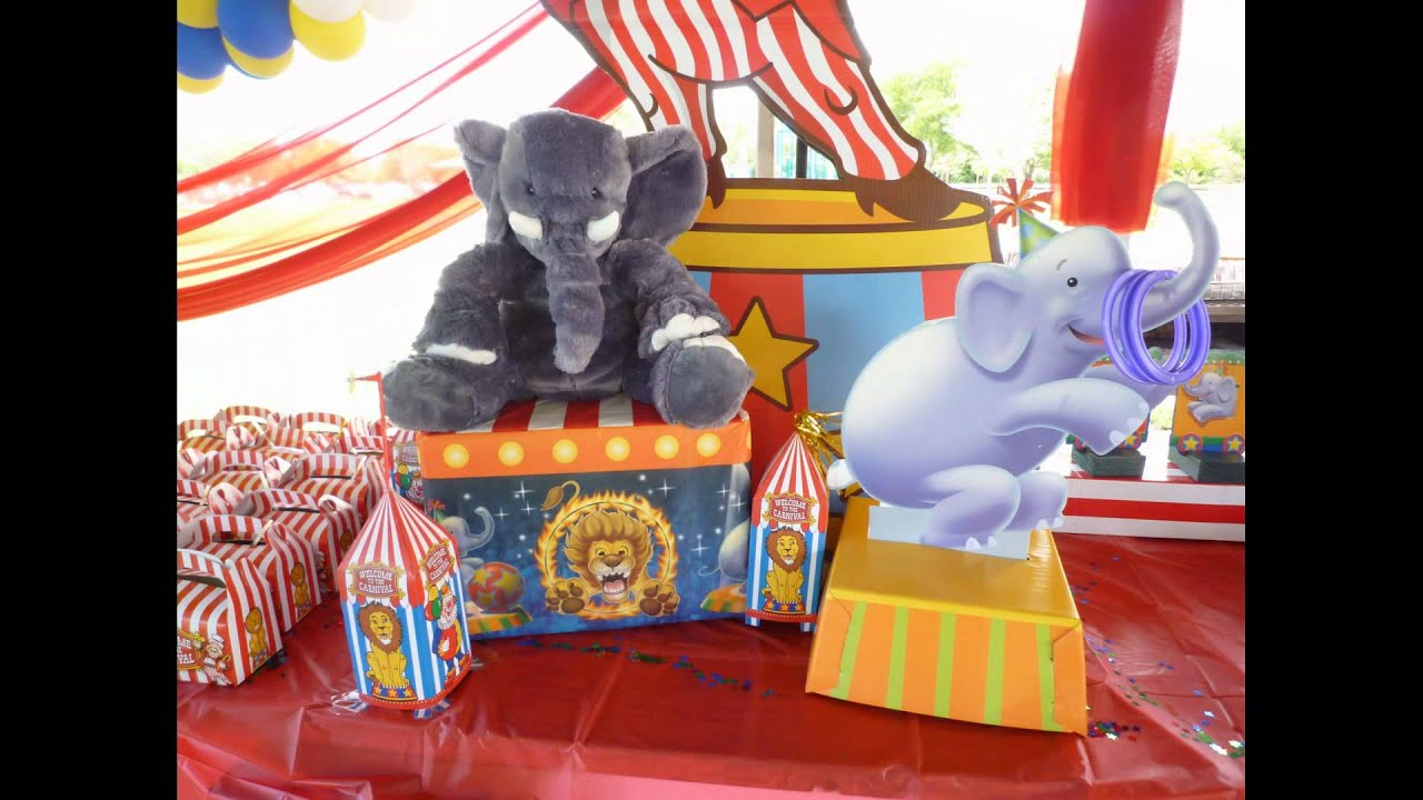 Circus Decoration For Birthday Party In A Park YouTube