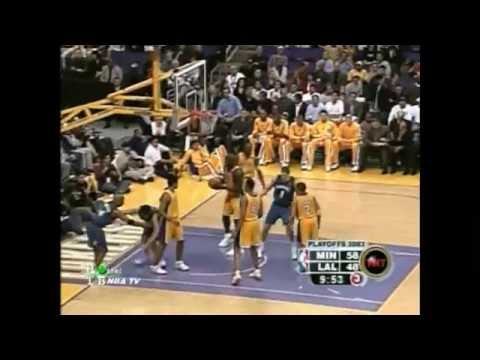 Kevin Garnett vs Kobe Bryant Highlights 2003 WCR1 GM3