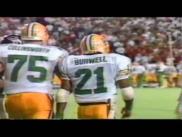 Oregon RB Sean Burwell 23 yard gain on screen pass vs. Texas Tech 9-14-91