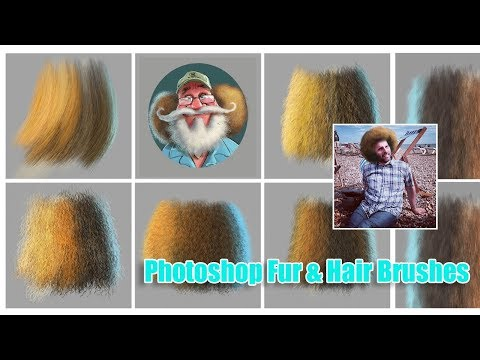 Fantastic Photoshop Hair Brushes from Aaron Blaise