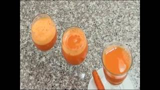 How To Prepare  Carrot juice  By Chef  Yonas Tefera