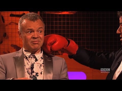 SYLVESTER STALLONE Punches Graham Norton! The Graham Norton Show on BBC AMERICA