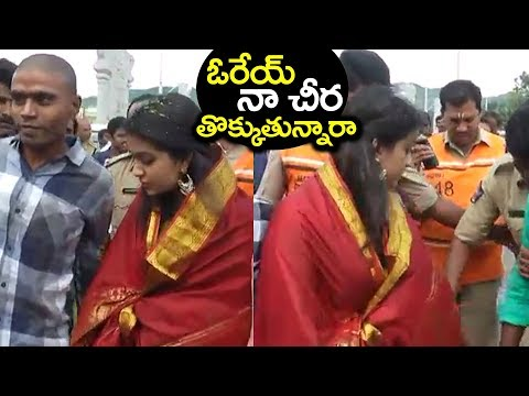 Mahanati Movie Actress Keerthy Suresh Visits Tirumala Tirupati Temple #9RosesMedia