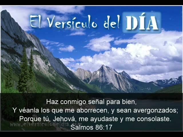 El versiculo del dia .com - Salmos 86 v17