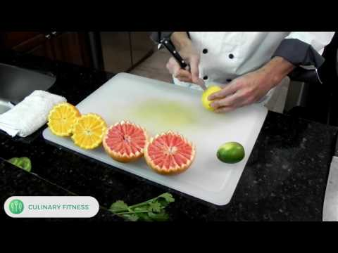Citrus Garnish With Chef Dennis Berry At Culinary Fitness | Healthy Cooking Videos
