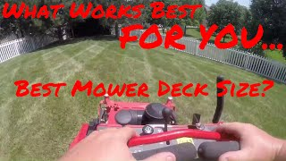 Lawn Care First Person Mowing ► Testing a New Mower, What Deck Size is Best?