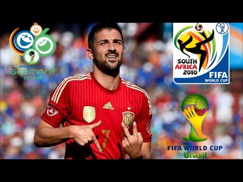 David Villa ● All 9 Goals in World Cup ● 2006-14 IHDI