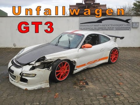 kopie von porsche 997 gt3 unfallwagen zu verkaufen youtube. Black Bedroom Furniture Sets. Home Design Ideas