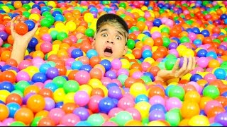 100,000 BALLPIT BALLS DOWN THE STAIRS!