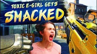 CRAP TALKING E-GIRL GETS SMACKED 4v8 (BO2 SnD)