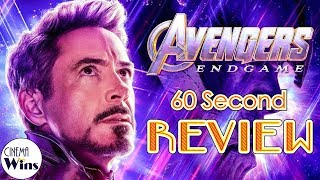Avengers: Endgame 60 Second Review (NO Spoilers) | CinemaWins