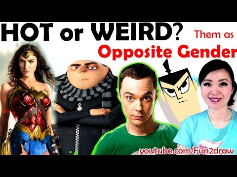 Famous Characters Reimagined as Opposite Gender! | NEW Art Challenge! | Mei Yu